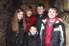 Family photo at Portencross Castle